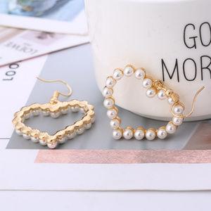 Boho Sweet Pearl Earrings Lovely Heart jewelry